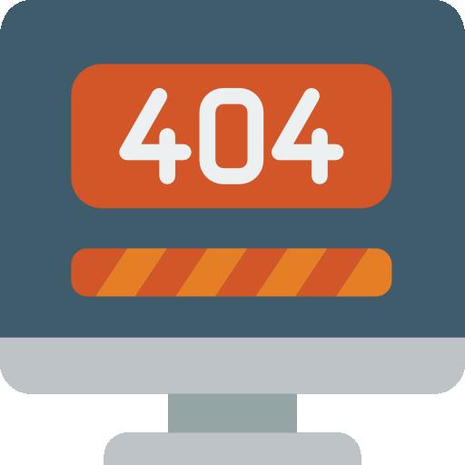 Icono de error 404 creado por Smashicons